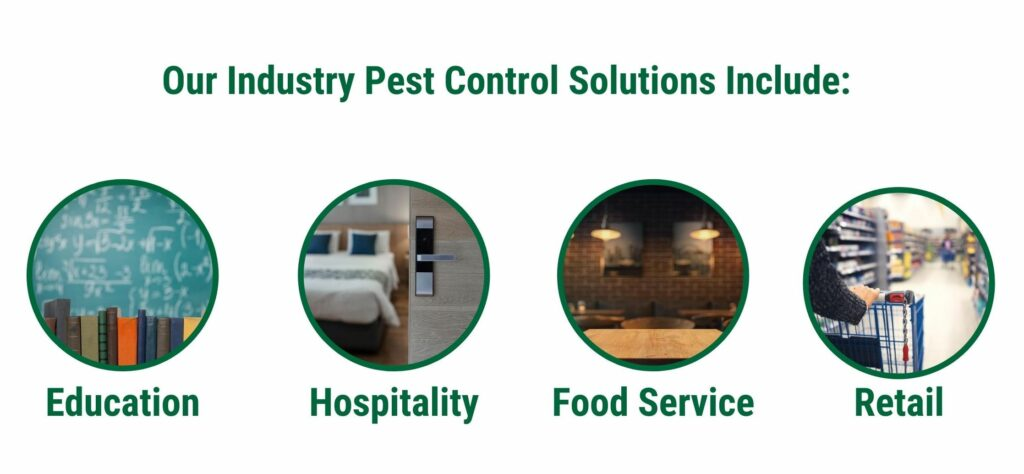 Our industry solutions include education, hospitality, food service, and retail.
